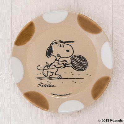 MASHICO プレート17cm PEANUTS [Tennis] アンバー/ホワイト