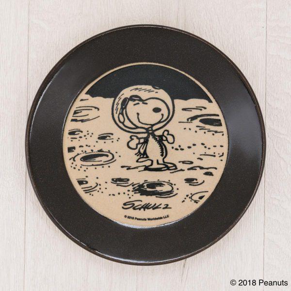 MASHICO プレート17cm PEANUTS [Astronaut] ブラック