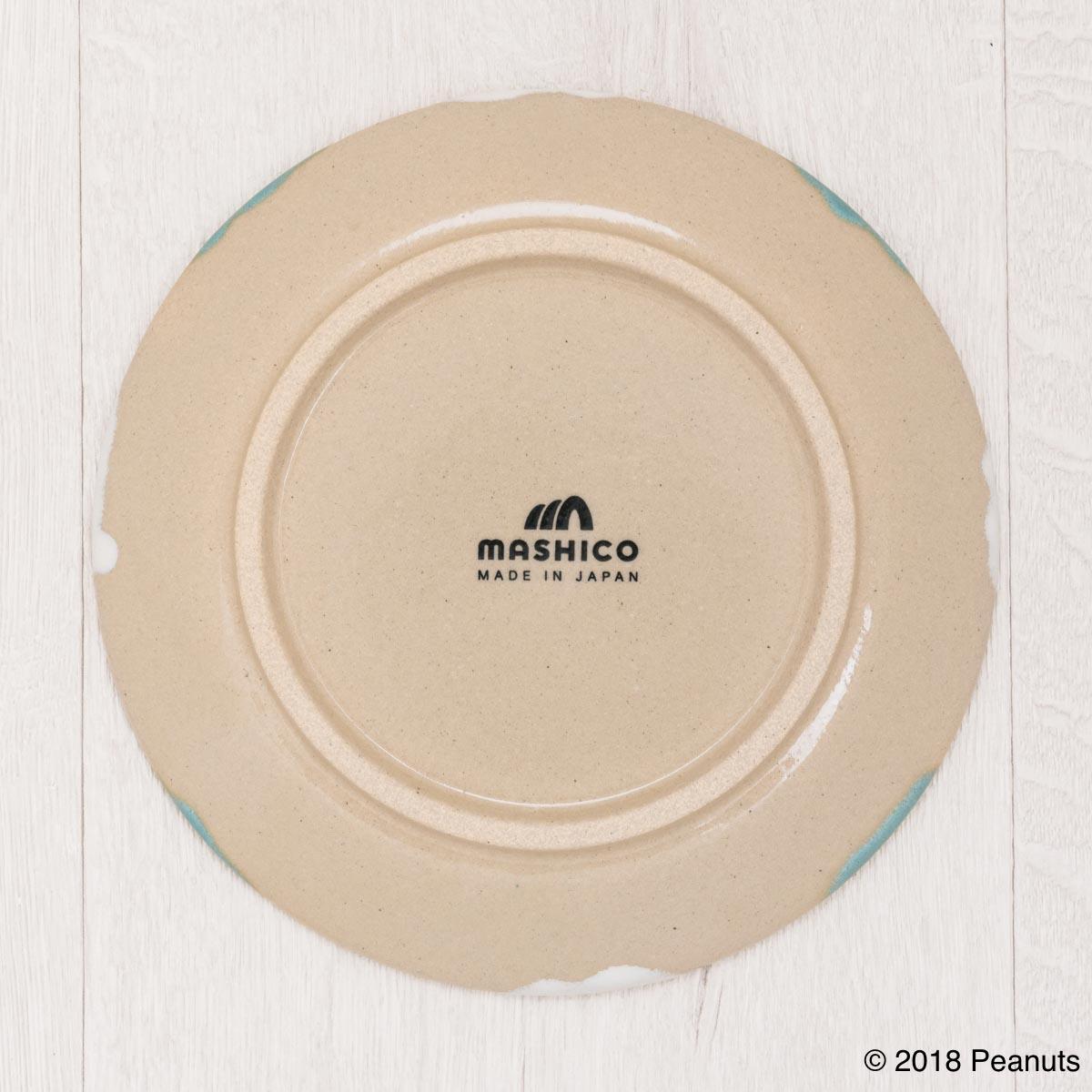 MASHICO プレート17cm PEANUTS [Surf's Up] ライトブルー/ホワイト