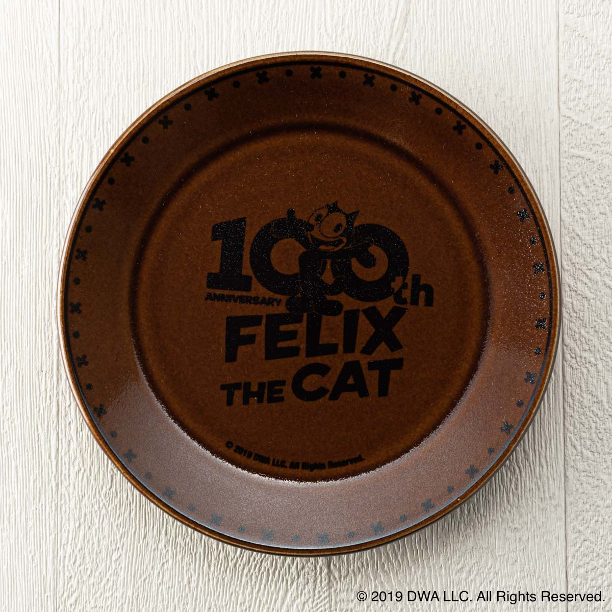 MASHICO プレート17cm FELIX THE CAT [100th LOGO] ブラウン
