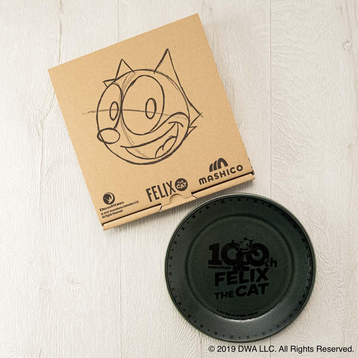 MASHICO プレート17cm FELIX THE CAT [100th LOGO] ブルーグリーン