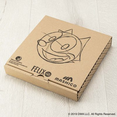 MASHICO プレート17cm FELIX THE CAT [100th LOGO] ブラウン