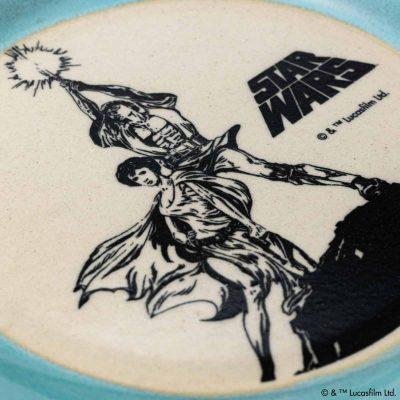 MASHICO プレート17cm / STAR WARS [ルーク&レイア] ライトブルー