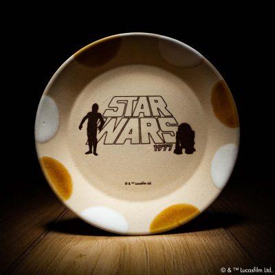 MASHICO プレート17cm / STAR WARS [C-3PO & R2-D2] アンバー/ホワイト