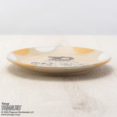 MASHICO プレート17cm PEANUTS [70 YEARS] イエロー/ホワイト